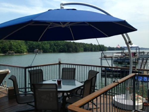 Frontgate Patio Umbrella And Stand